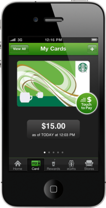 Starbucks iOS app adds Passbook support   in the US