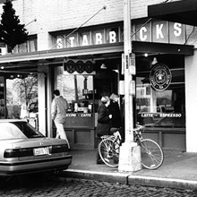 Store front of original Pike Place store